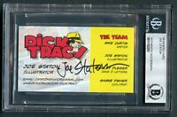 Joe Staton signed autograph auto Dick Tracy Writer Business Card BAS Slabbed