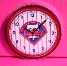 "Dollhouse Miniature  PHILLIES   Non-Working CLOCK (1"" ROUND) CK 390"
