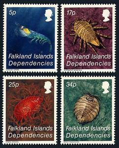 Falkland Islands Dependencies 1L76-1L79, MNH. Crustacean, 1984