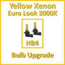 Warm White 3000K Yellow Xenon Headlight Bulbs Main Dip Beam or Fog HB4 55W (x2)