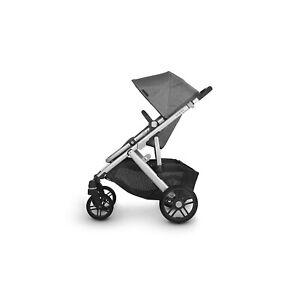 Uppababy Vista V2 Stroller - Jordan (Charcoal Melange/Silver/Black Leather)