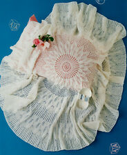 Circular Baby Shawl in Traditional Lace  3ply   Knitting Pattern