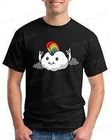 Rainbow Mohawk Cloud T-Shirt Gay Pride Walk LGBTQ Love Wins Rock On Cute Tees
