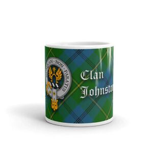 Johnston Clan Crest Coffee / Tea Mug - Scottish Cup 10oz / 295ml