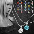 Shamballa Halskette Damenkette Gliederkette Schlangenkette Silber NEU