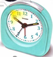 Sharp Battery Powered Ascending Alarm Clock Glow Dark Hands Back Light On Demand