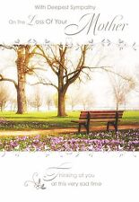 With Deepest Sympathy On The Loss Of Your Mother Tree Design Bereavement Card