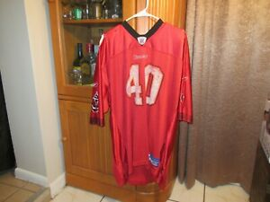Tampa Bay Buccaneers Mike Alstott #40 Reebok Jersey NFL 2XL Champs! FS*