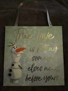 Primark Disney Frozen 2 Olaf True Love Plaque