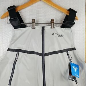 NWT $300 COLUMBIA PFG Size Large Waterproof Fishing Bib Overalls Force 12 Mens