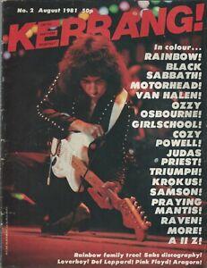 KERRANG! #2 AUG 1981: RAINBOW Def Leppard PINK FLOYD Van Halen JUDAS PRIEST