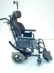 "Quickie Iris Tilt In Space 16""x18"" Frog Legs J2 Contour adjustable Wheelchair"
