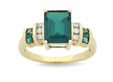 Unbranded Emerald Yellow Gold Fine Rings