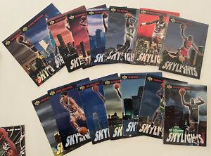 """1993 Upper Deck """"Skylights"""" Full set of 15 Cards Jordan Shaq Ewing"""