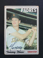 Tommy Dean Padres Signed 1970 Topps Baseball card #234 Auto Autograph 2