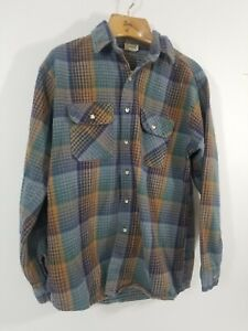 70s Five Brother Double Pocket Chamois Cloth Flannel Shirt Mens Large Vintage Mens Shirt Flannel Mens Five Brother Vintage Flannel Shirt