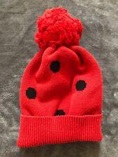 Baby Gap Red Polka Dot Pom Pom Beanie 0-6 Months