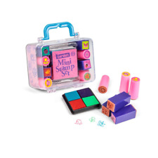MINI STAMP SET - 08025 INK PAD AND 8 STAMPS In ATTRACTIVE STORAGE BOX ART CRAFT