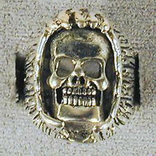 1 DELUXE ENCLOSED SKULL HEAD  SILVER BIKER RING BR99 mens NEW jewelry RINGS