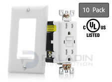 15A Amp Tamper Resistant GFCI Safety Outlet Receptacle - UL 2015 TR Self Testing