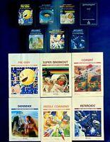 Atari 2600 Game Cartridge Lot Of 13 Space Invaders Pac-Man Defender Manuals More