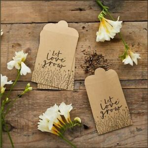 Wedding Favour Seed Bags   Kraft Birthday Party Occasions Gift x 20