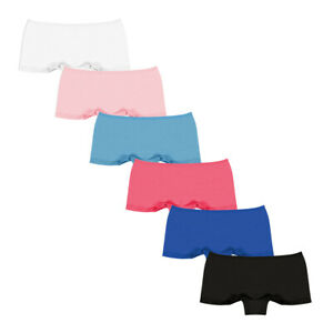 Pack of 6 Womens Ladies Cotton French Boxers Underwear Shorts Knickers Panties