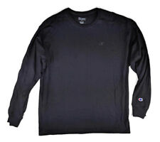 Champion Mens T Shirt sz XL Black Classic Jersey Long Sleeve Crew Neck NWT $20