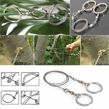 Emergency Survival Steel Gear Wire Saw For Hiking Hunting Climbing Camping Tools