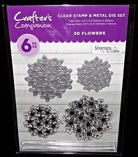 Crafter's Companion 3D Flowers New Stamps by Chloe Clear Stamps & Metal Die Set