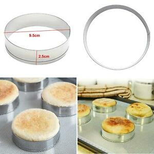 6Pcs Cake Muffin Crumpet Bread Rings Bakery Stainless Steel Baking Mold Tools