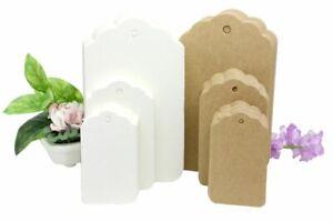 XLarge 7x12cm Kraft Paper Gift Tags Card Label  free string UK Seller