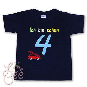 Geburtstagsshirt - Ich bin schon 4 - Wahl: MOTIV, WUNSCHNAME, Farbe * NEU *