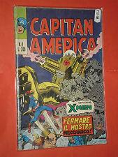 CAPITAN AMERICA- n°4-  prima SERIE 1°- DEL 1973 -EDIZIONI CORNO-  RARO