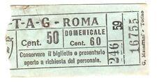 ANTICO BIGLIETTO AUTOBUS E TRAM 1940 ca. - ATAG - ROMA - Centesimi 50 VERDE - 1
