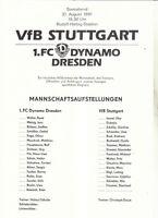 BL 91/92 Dynamo Dresden - VfB Stuttgart, 31.08.1991 (Notprogramm)