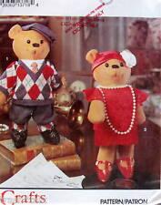 "Teddy bear pattern Dapper Flapper dress costume 15"" boy girl FF stuffed animal"