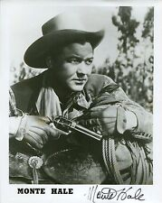 MONTE HALE HAND SIGNED 8x10 PHOTO+COA     LEGENDARY ACTOR   GREAT COWBOY WESTERN