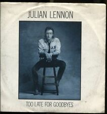 """JULIAN LENNON TOO LATE FOR GOODBYES + WELL I DON' T KNOW 1984 ITALY 7"""" 45 GIRI"""