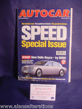 AUTOCAR Magazine 4th April 2001 SPECIAL SPEED ISSUE