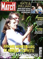 PARIS MATCH N°3408 11 SEPTEMBRE 2014  MONTEBOURG&FILIPETTI/ THERON/ KATE&WILLIAM