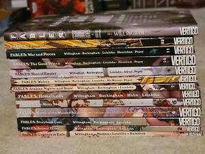 DC Vertigo Fables TPB Volume 1-11, 22 + 1001 Nights of Snowfall -Great Condition
