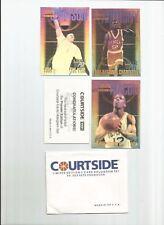 1991 COURTSIDE LTD EDITION PREMIER 3-CARD HOLOGRAM SET Larry Johnson 1/25,000 RC