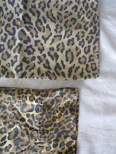 Ralph Lauren Aragon leopard print 100% cotton made USA pillowcase set two 2