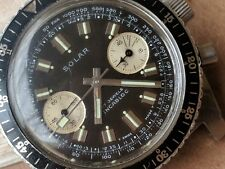 Vintage Gallet Solar Chronograph w/Dark Chocolate Brown Dial,Divers All SS Case