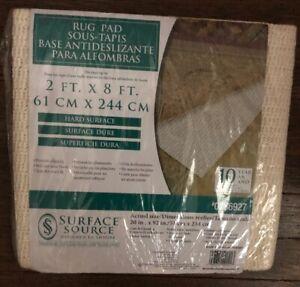 Surface Source Rug Pad For 2' x 8' Rug Runner New NIP Carpet Pad