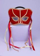 MARDI GRAS RED GOLD VENETIAN MASK COSTUME DRESS MASQUERADE PARTY FM56290
