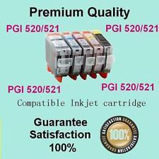 5 x Ink Cartridge PGI520 CLI 521 for Canon MP620 MP630 MP640 MP980 MX870 Printer
