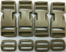 ITW NEXUS BUCKLE FASTEX #SR1 DOUBLE ADJUST & TRIGLIDE COYOTE BROWN LOT NEW