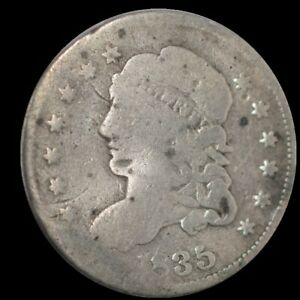 1835 U.S. 5¢ - Liberty Capped Bust Half Dime (Large Date) - AG
